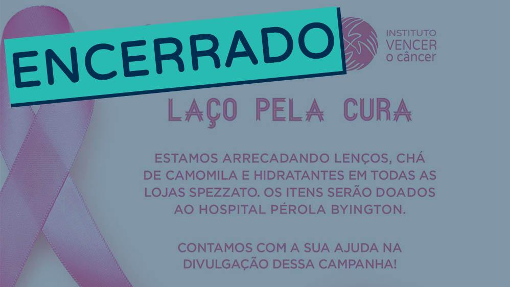 Thumbnail da campanha IVOC para arrecadação de lenços e hidratantes para pacientes do Hospital Pérola Byington encerrado.