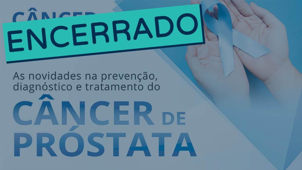 Thumbnail de evento sobre câncer de próstata no HIAE encerrado.