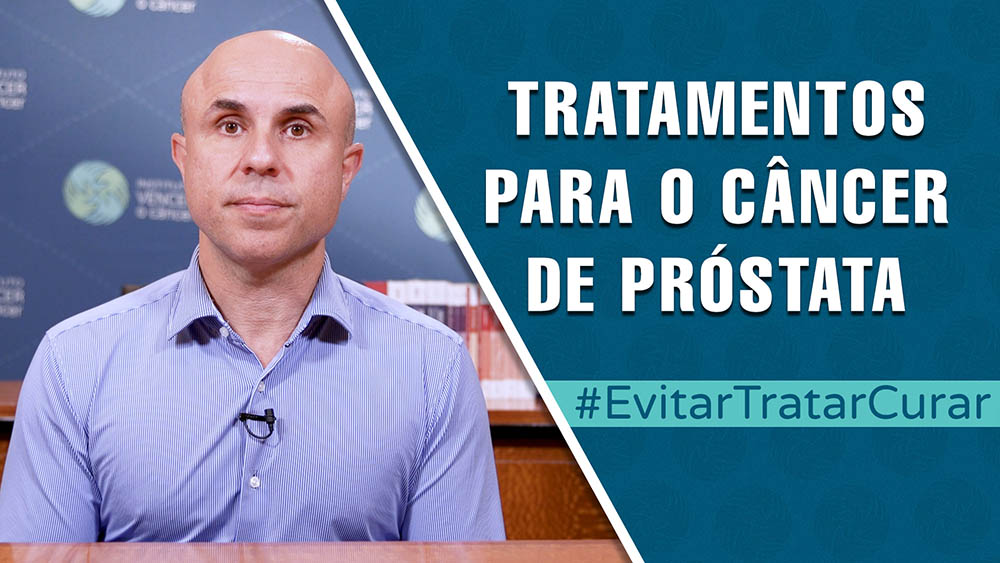 """Thumbnail com dr. Fernando Maluf e texto """"tratamentos do câncer de próstata""""."""