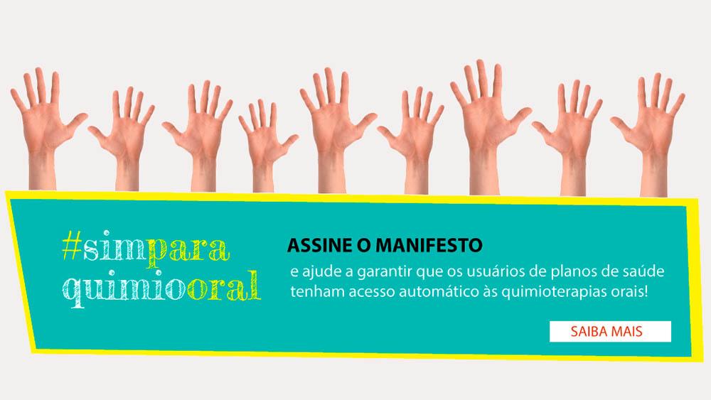 Banner da campanha Sim Para Químio Oral.