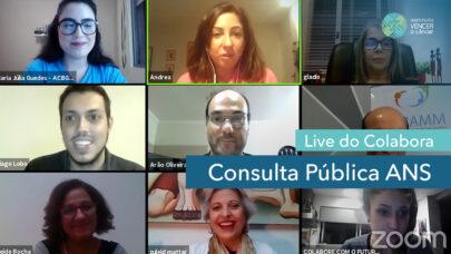 Live do Colabora - Consulta Pública ANS