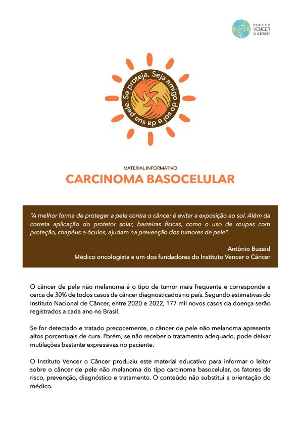 Cartilha Câncer Basocelular