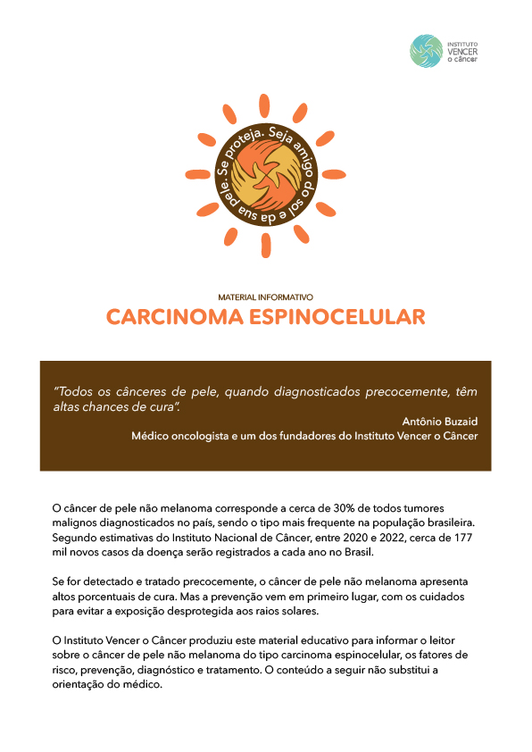 Cartilha Câncer Espinocelular